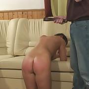 Salacious lass has brutal spanks on her hindquarters