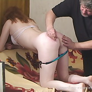 Filthy miss gets depraved whips on her hindquarters