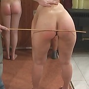 Cute gal gets her hindquarters flagellated