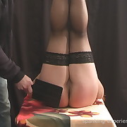 Raunchy puss gets brutish spanks on her posterior