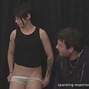 Dissolute maiden gets spiteful spanks on her cheeks