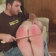 Lecherous lass gets vicious spanks on her fannies