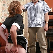 Bad sheila spanked otk