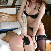 Sissified spanking wide the niche