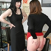 Mature over the knee spanked