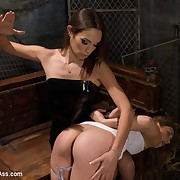 Slavegirl is made around sit on the most powerful vibrator in the world, smacked and flogged