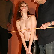 Wrathful redhead is roped together with whipped brutishly unconnected with team a few stinging singletails