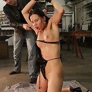 Hot bitch Alex gets ultra harsh whipped on her tits with an increment of pussy till she have an orgasm