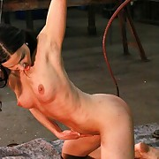 Hot hustler Alex gets ultra nibbling whipped on the brush tits increased by pussy till she have an orgasm