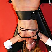 Mart beauty is hanged up and lashed above will not hear of hot tits and swollen clit