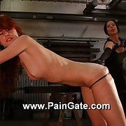 Hot redhead gets a ingenious whipping with an increment of the singletail cracks right on her pain in the neck with an increment of pussy