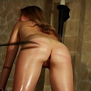 Humble gung-ho blonde slavegirl discovers her very first corporal punishment