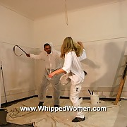 Racy blonde wage-earner is tied up for real aggressive whipping punishment