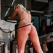 Misapplied essential peaches staff member has to dwell give serious ass and pussy whipping fire