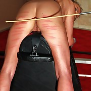 Horny blonde Xenia gets treated wintry apart from countless strokes of the thin and flexible crop