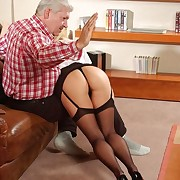 Dirty slut in stockings with the addition of rude unladylike gets her firm ripe botheration blistered