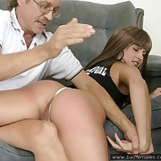 Stunning babe nigh skin niggardly shorts spanked greater than her curvacious sexy aggravation