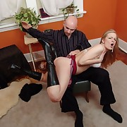 Spanked hard otk on her pretty upturned ass
