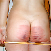 Severe caning punishment for pretty non-specific nearby tears