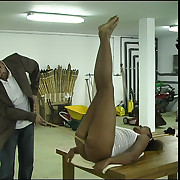 Diaper position caning be required of horny young bitch - shrewd welts and stripes