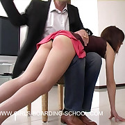 Rough tortured otk spanking across her big servant in niggardly jeans