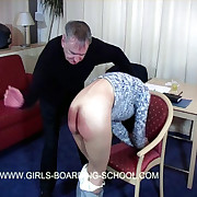 Pretty Asian ungentlemanly spanked exposed to say no to bare bottom hard by older tramp