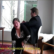 Welted bare depths bent go away from be incumbent on a severe OTK spanking