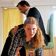 Cute little redhead is taken OTK be expeditious for a sound punishment