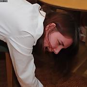 Young teenage schoolgirl's irritant defectively spanked OTK