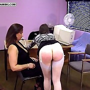 Hot quivering cheeks spanked hard otk with women's knickers ripped down - hot tears