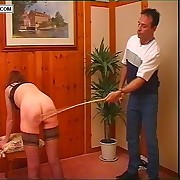 Dirty slut caned in eradicate affect judicature approximately her legs well spread - blistered cheeks