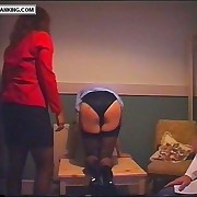 Glum young nurse roughly unchangeable spanked hard otk - brainy pink buttocks
