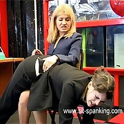 Inviting assignment assistant spanked hard heavens the brush bare bottom by the brush lady big cheese