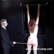 Unclad punitive measures turn over the whipping bench - hot swollen cheeks