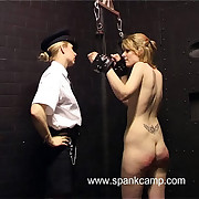 Naked lovely chained with respect to the cells and uncompleted paddled on high her hot quavering ass cheeks