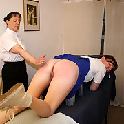 Severe hand spanking be worthwhile for tearful inclusive with her naked ass nearby the air