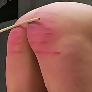 Nicky lowers her tight petticoat and acquires a naughty spanking on her naked ass