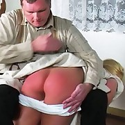 The headmaster pulls down Kelly`s pants and gives her a lashing this babe won`t forget