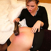 Young at great cost spanked with the addition of strapped by strict nancy bitch