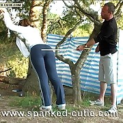 Wetting tears - teen babe tied respecting a vine added to caned mercilesly on her luscious naked globes