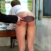 Pretty school girl spanked in affectation be worthwhile for the mixed bag - widely applicable raised and knickers down
