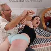 Lewd descendant gets harsh spanks upstairs her depths
