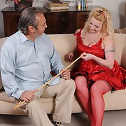 Libidinous maiden gets ruthless spanks on say no to can