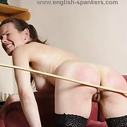 Filthy puss has harsh spanks on the brush booty