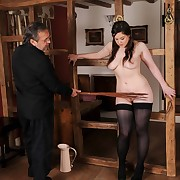 Prurient skirt has vicious whips surpassing her tail