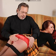 Lustful dame has sadistic whips on their way hindquarters