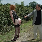 Prurient spread out gets savage spanks mainly her servant