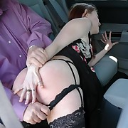 Lustful lass has incorrect whips on her buns
