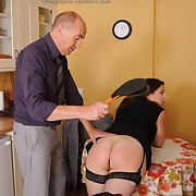 Filthy girl gets vicious spanks on her buttocks