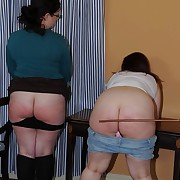 Pretty maid gets their way booty spanked